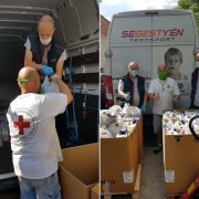 Száz családnak segítettünk a Vöröskereszttel